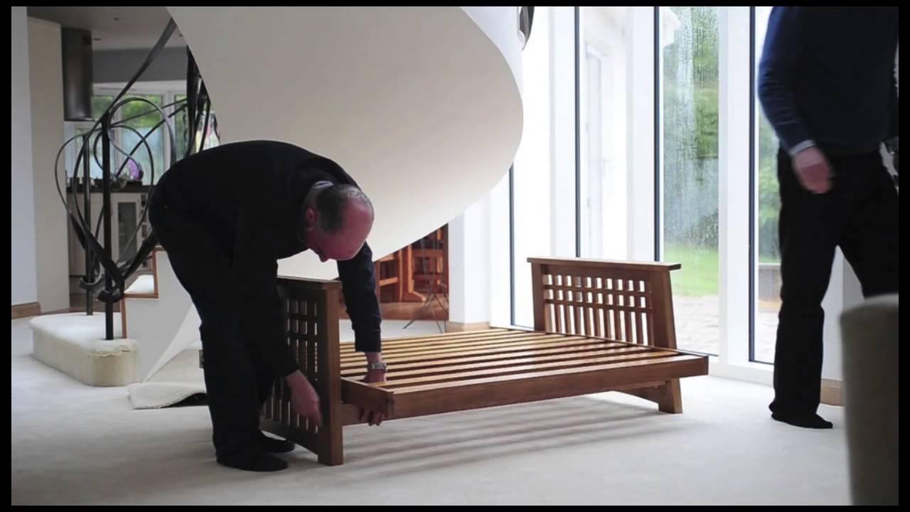 Cambridge Futon Oak 2 Seater With Sofa Bed Mattress