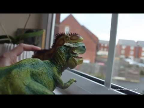 Dinosaurs Collection Toys Allosaurus and Tyrannosaurus (T-Rex) for Kids Playtime Jurassic period