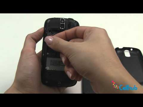 HTC MyTouch 3G Slide   Install Sim Card and Battery