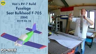 Van's RV-7 Build Fuselage Seat Bulkhead F-705 (084)