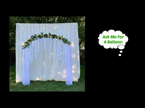 Backdrop Arch With Balloons And Flowers