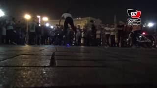 بالدرجات أطفال يحتلفون بالعيد في ميدان التحرير