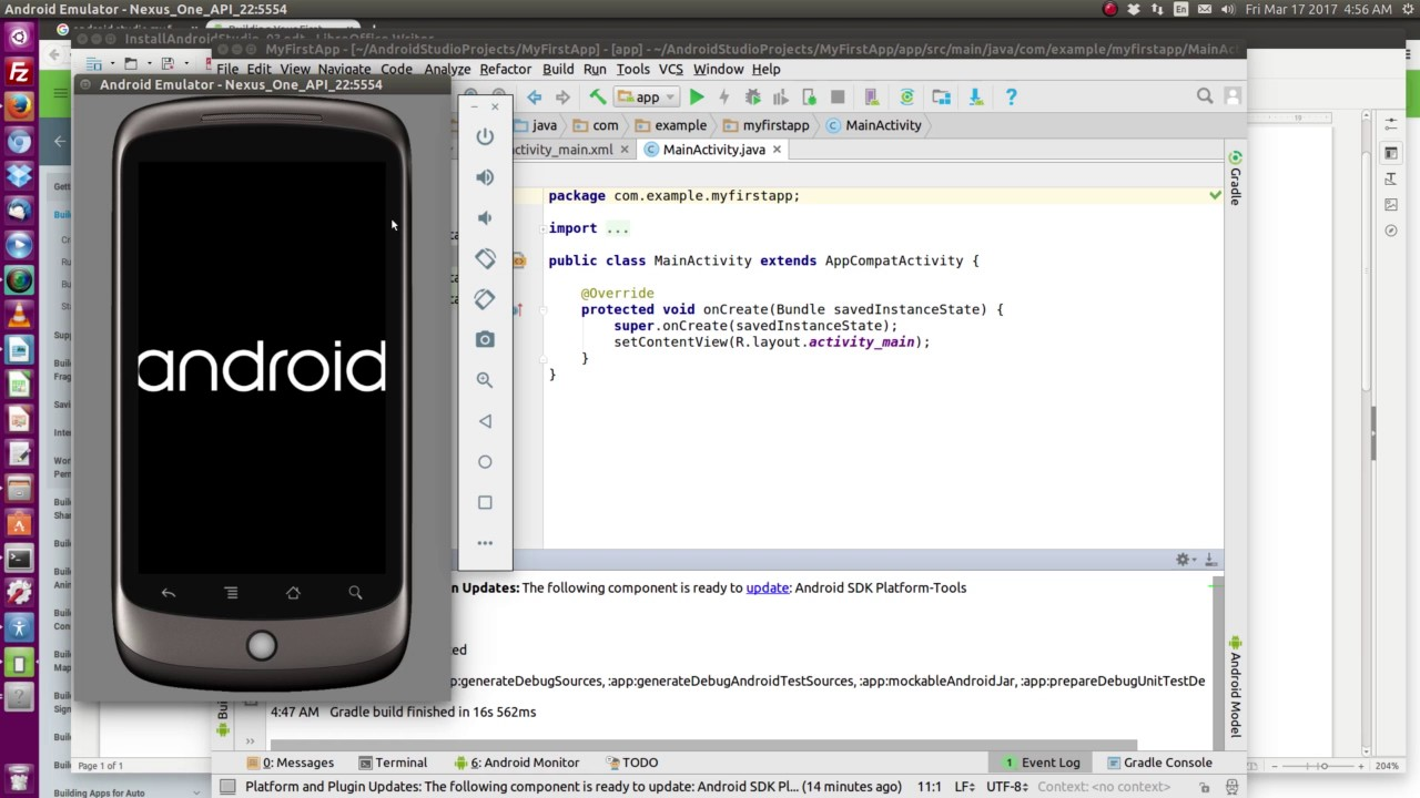 Android Studio install - Ubuntu 16 04 (part 3)