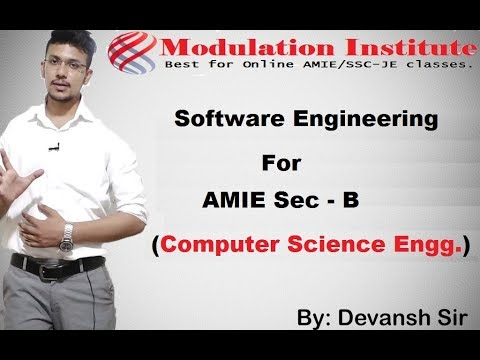 Software Engineering Lecture For AMIE SEC B | Modulation Institute |9015781999