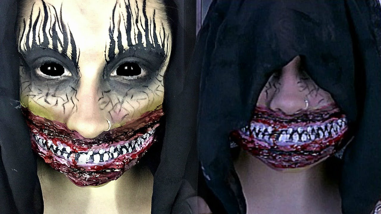 the smiler scary halloween special effects makeup tutorial - Halloween Effects Makeup