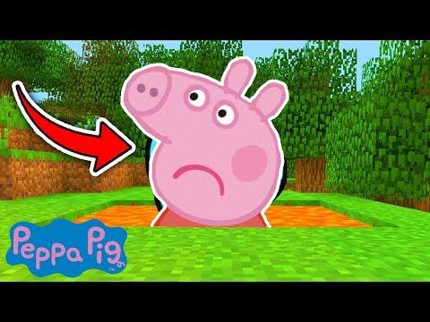 JE PIÈGE PEPPA PIG DANS LA LAVE SUR MINECRAFT !! 😂 (Troll Base Secrète)