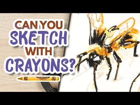 Can You Sketch With Crayons? // Sketchbook Session thumbnail
