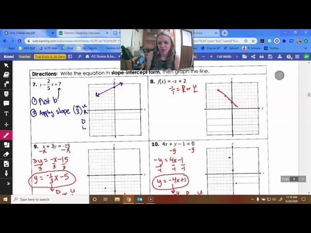 Algebra 2: Linear Equations