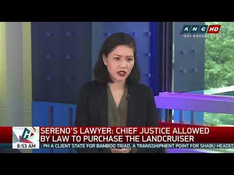 Lawyers defend Sereno's P200,000 rent of Boracay villa