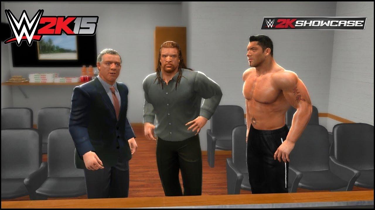 WWE 2K15 EVOLUTION (Triple H Batista Ric Flair & RKO) | WWE 2k15 Best Friends Bitter Enemies ||