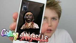 OMG! ANNABELLE (EVIL DOLL) CALLED ME ON FACETIME!!! SO SPOOKY!!