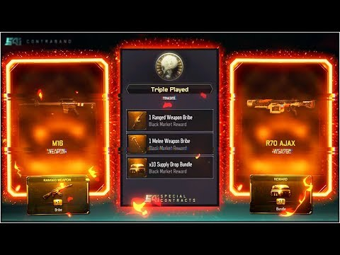 "1 WIN TO GO! *NEW* BLACK OPS 3 ""TRIPLE PLAY"" WEAPON BRIBE SUPPLY DROP OPENING! (BO3 DLC WEAPONS)"
