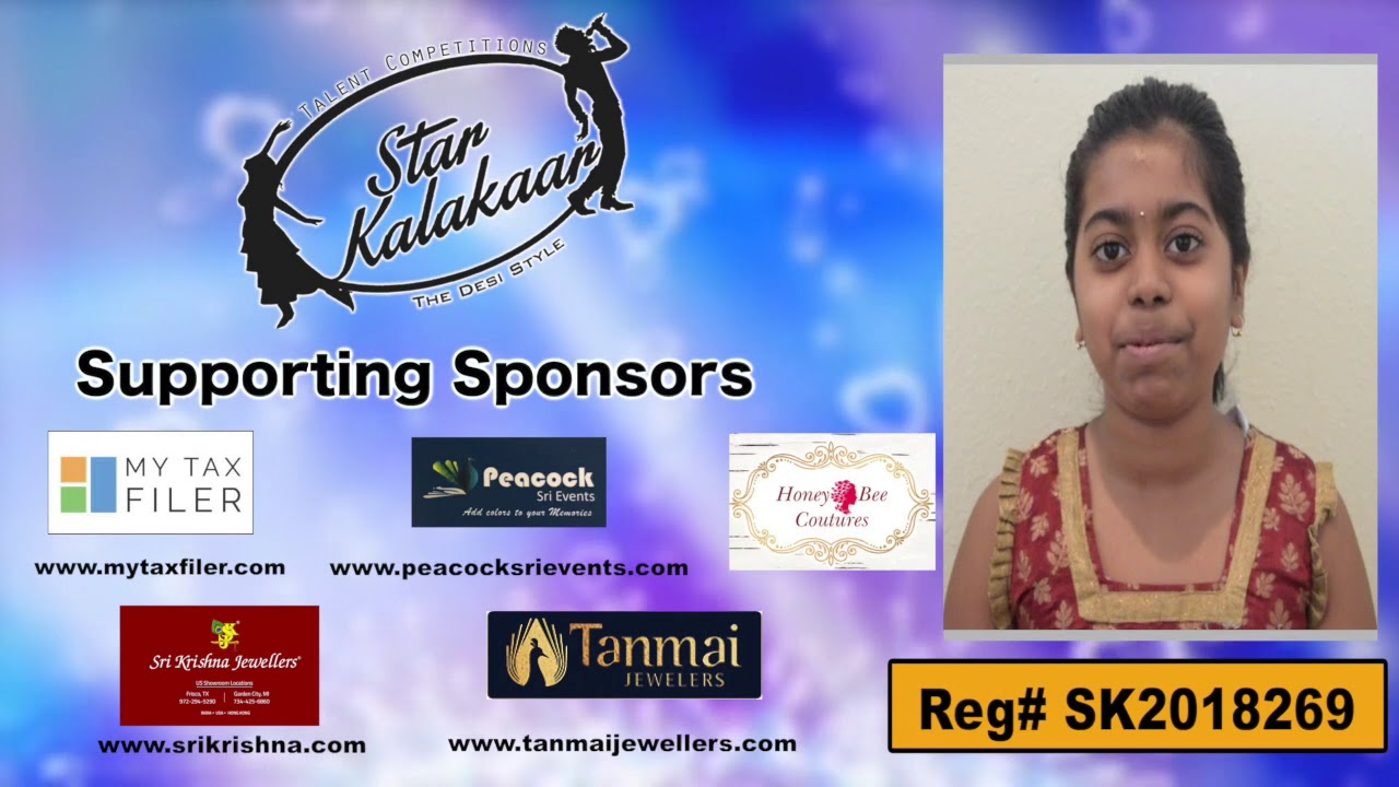 Participant Reg# SK2018-269 Introduction - US Star Kalakaar 2018 || DesiplazaTV