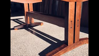 Building a Walnut Trestle Dining Table