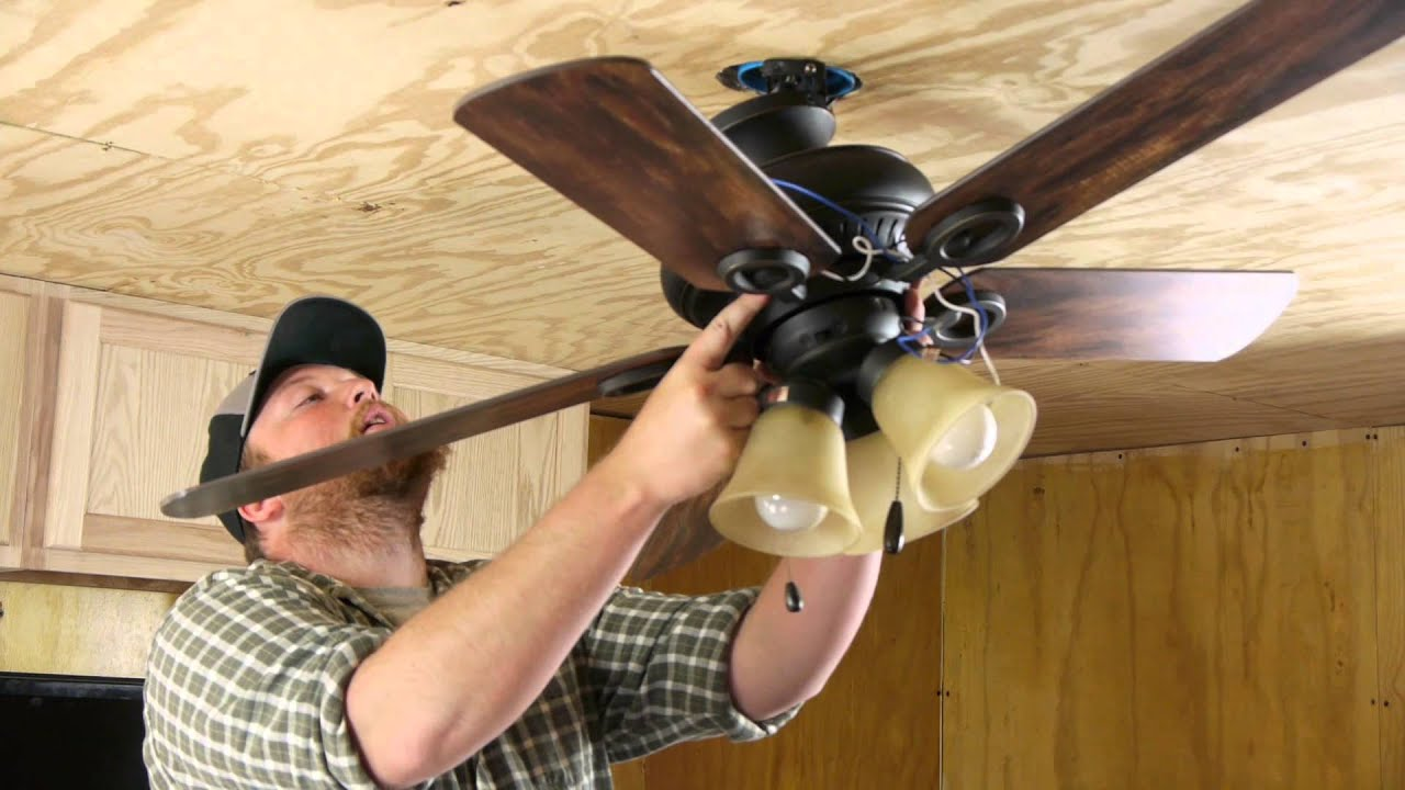 Ceiling Fan With A Light Fixture