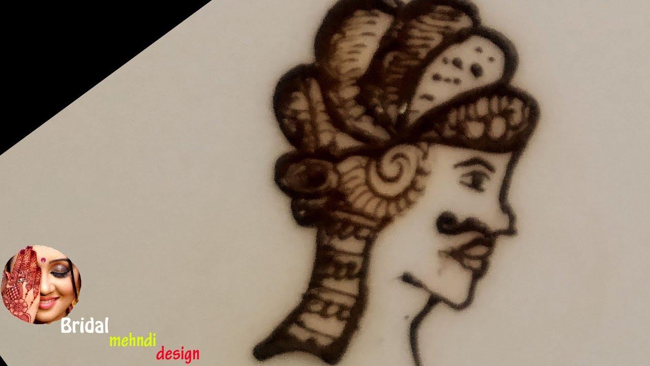 groom face mehndi design