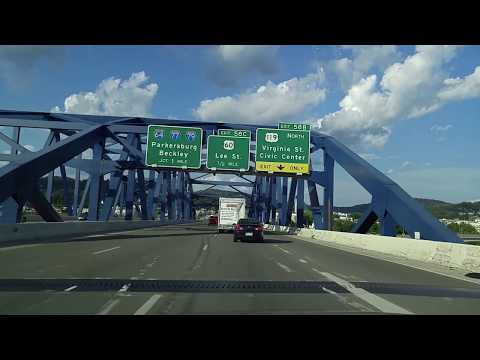 Driving on I-64 from Nitro to Charleston,West Virginia