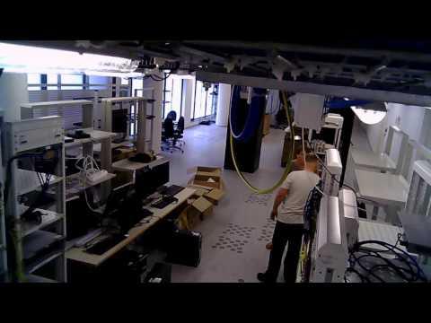 Time-lapse z budowy wrocławskiego laboratorium Nokia Networks