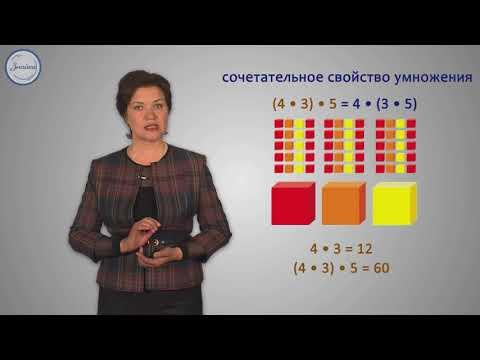 Сочетательный закон умножения видеоурок