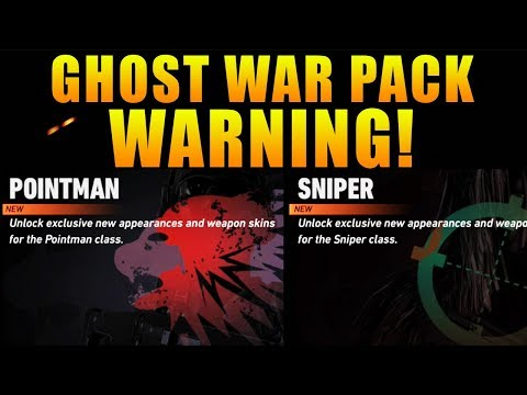 GHOST WAR PACK *WARNING* BEFORE YOU BUY! | NEW POINTMAN, SNIPER, SCOUT GHOST WAR PACKS!