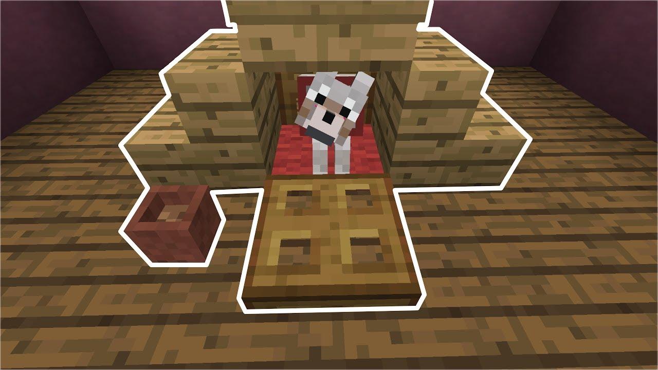 How to Build a Mini Dog House  Minecraft  YouTube