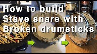 How to build snare with broken drumsticks