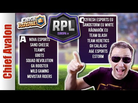 CLASH ROYALE TOP 32 RPL EUROPA IV QUALIFIER BRACKETS! GROUP A AND GROUP C WINNERS!