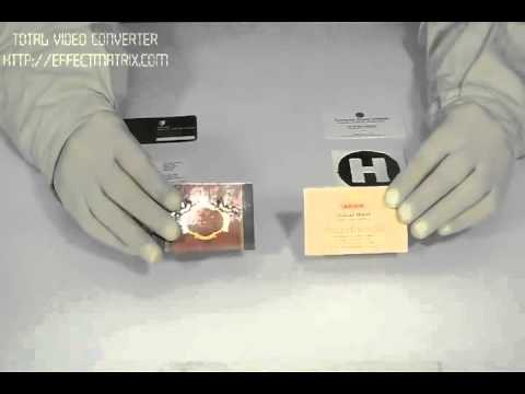 Foil stamping business cards youtube foil stamping business cards reheart Choice Image