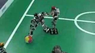Akihabara Maid Tour Plays Robot Soccer