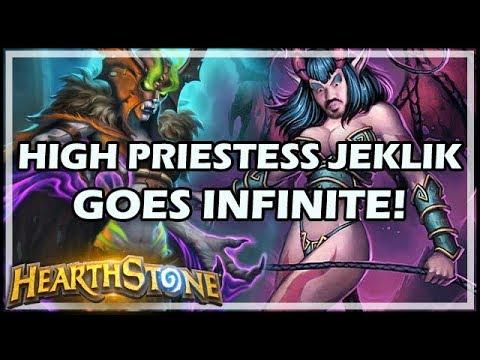 HIGH PRIESTESS JEKLIK GOES INFINITE! - Rastakhan's Rumble Hearthstone
