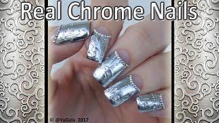 Real chrome nails / Настоящий зеркальный эффект. Дизайн ногтей