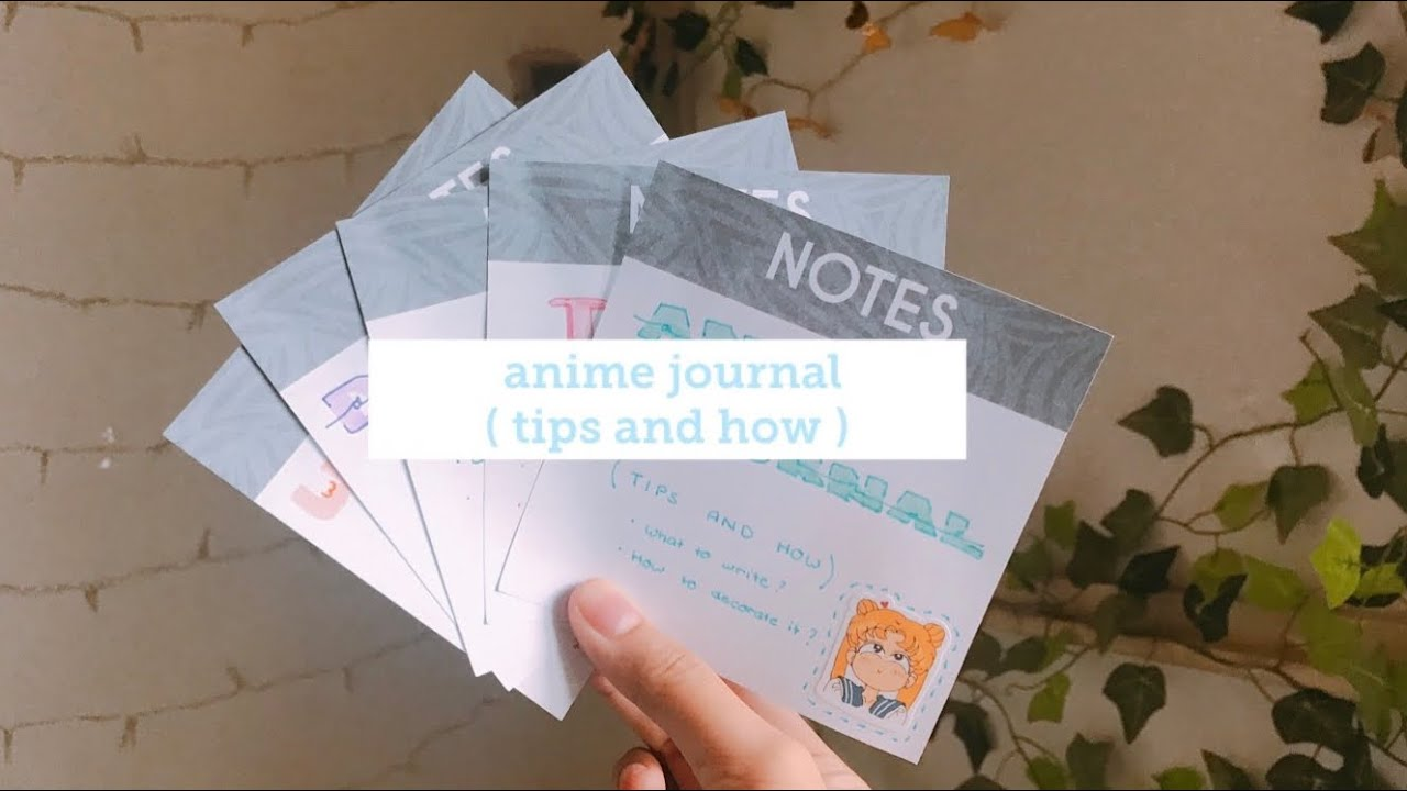 how to make your own anime journal