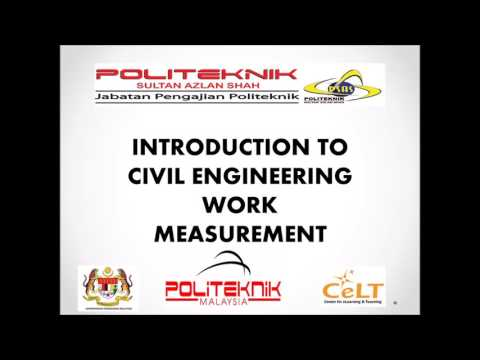 EMCC0120 : Introduction to Civil Engineering Works Measurement