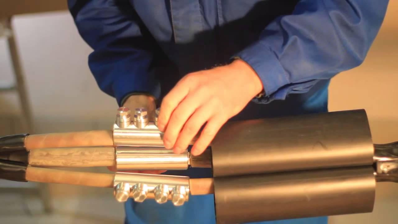 Монтаж соединительной кабельной муфты 3 СТП-10 (150-240) ЗЭТА