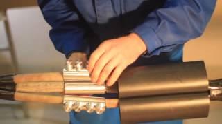 Монтаж соединительной муфты 3 СТП-10 (150-240) ЗЭТА(Монтаж кабельной соединительной термоусаживаемой муфты для кабеля с бумажной маслопропитанной изоляцией..., 2014-04-16T03:30:44.000Z)