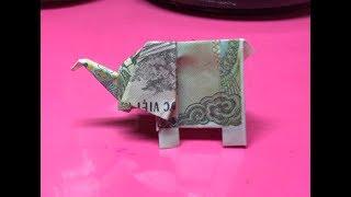 Cách gấp con voi bằng tiền giấy - Origami money elephant