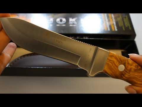 Joker OSO Olive Wood Hunting Knife CO49