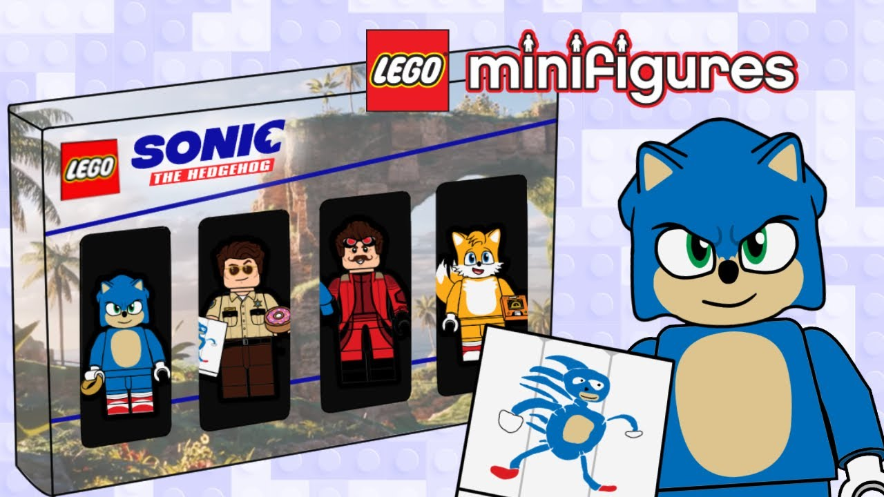 Sonic The Hedgehog Movie Custom Minifigure Pack 4 Youtube