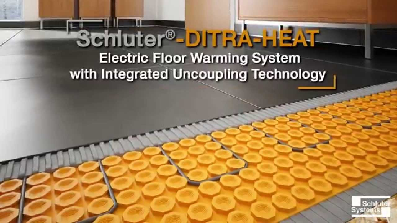Schluter ditra heat electric floor warming system youtube dailygadgetfo Image collections