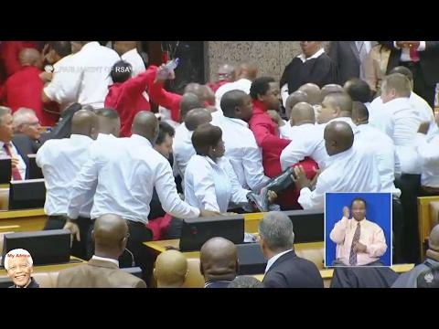 SONA 2017 | BIG BIG Fight In Parliament. EFF vs Zuma.