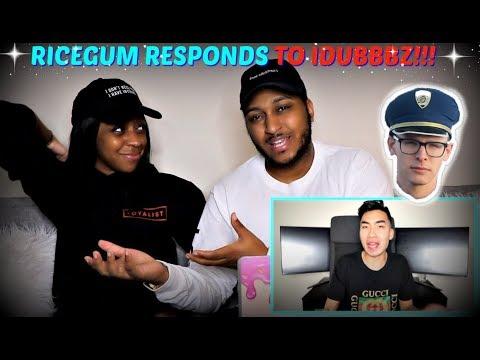 RICEGUM RESPONDS TO IDUBBBZ REACTION!!!