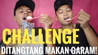 Challenge ditangtang makan garam    asli muntah😳