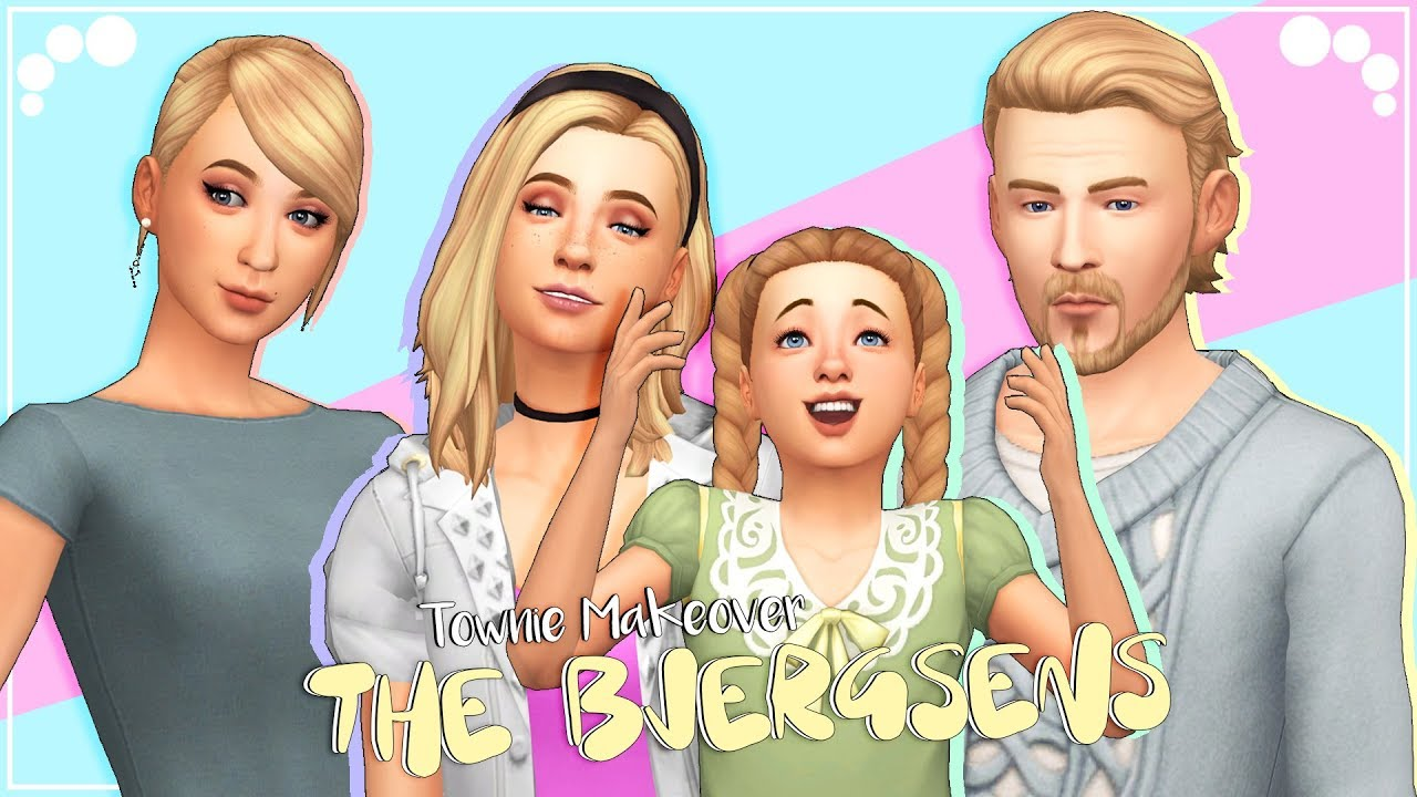 THE BJERGSENS | The Sims 4 | Townie Makeover + CC list & sims download by  Aveline