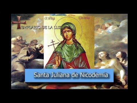 Santa Juliana de Nicodemia - Santoral del dia 16 de Febrero