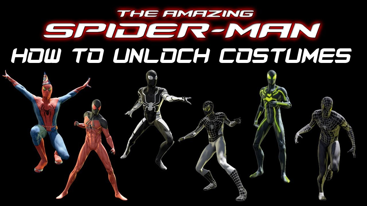 The Amazing Spider Man How To Unlock Costumes True Hd Quality