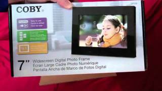 Coby Digital Photo Frame Unboxing