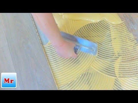 Trick How to Spread the Glue Mapei for Glue Down Wood Floor Installation MrYoucandoityourself