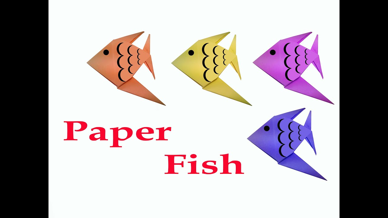 Papercraft How to make Origami Fish ( very easy ) : DIY Crafts