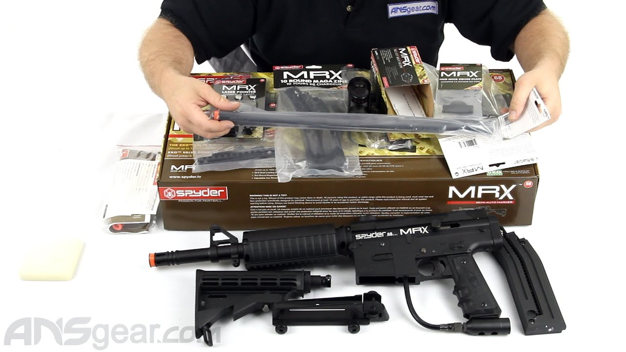 2012 Kingman Spyder MRX Semi-Auto Paintball Gun - Diamond Black