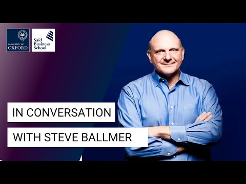 Steve Ballmer: Microsoft and my passion for business